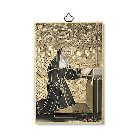 Impressão na madeira Santa Rita de Cascia Oração ITA