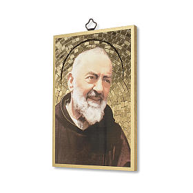Impreso sobre madera Padre Pío Oración a Padre Pío ITA s2