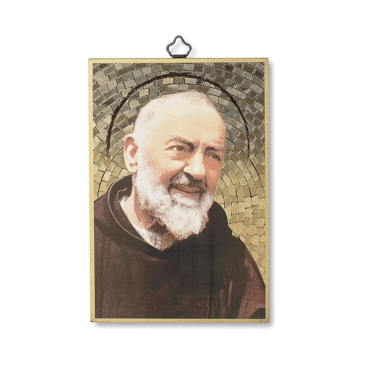 Nadruk na drewnie Ojciec Pio Modlitwa do Ojca Pio IT 3