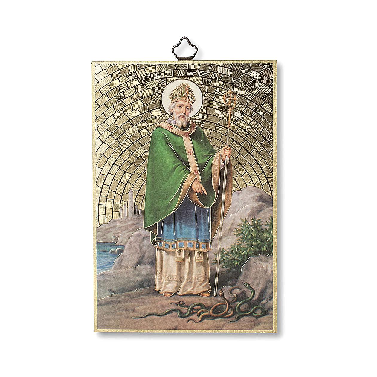 Stampa su legno San Patrizio Preghiera del Viaggiatore ITA 3