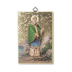 Stampa su legno San Patrizio Preghiera del Viaggiatore ITA s1