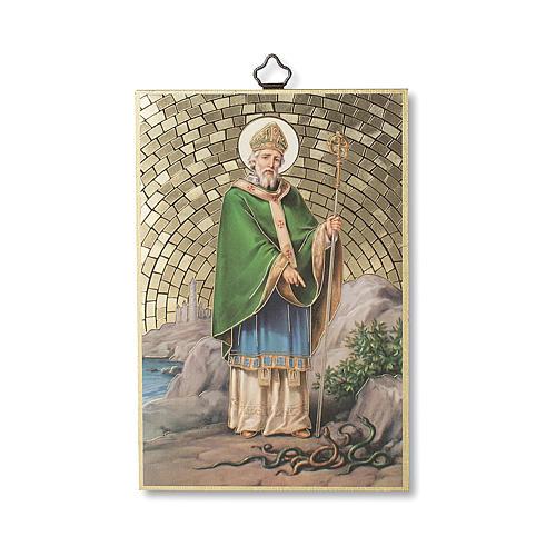 Stampa su legno San Patrizio Preghiera del Viaggiatore ITA 1
