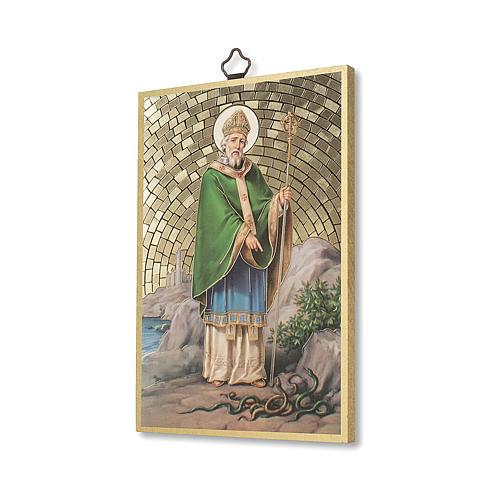 Stampa su legno San Patrizio Preghiera del Viaggiatore ITA 2