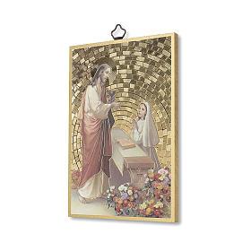 Impreso sobre madera Jesús Niña Oración Agradecimiento diploma Comunión ITA s2