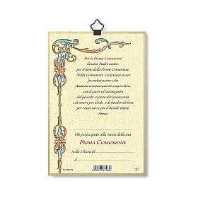 Stampa su legno Gesù Bimba Preghiera Ringraziamento diploma Comunione ITA s3