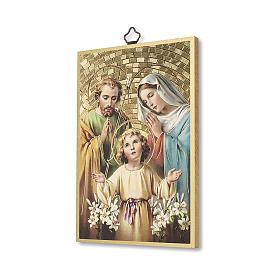 Impreso sobre madera Sagrada Familia Oración para la Familia ITA s2