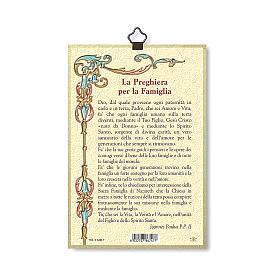 Impreso sobre madera Sagrada Familia Oración para la Familia ITA s3