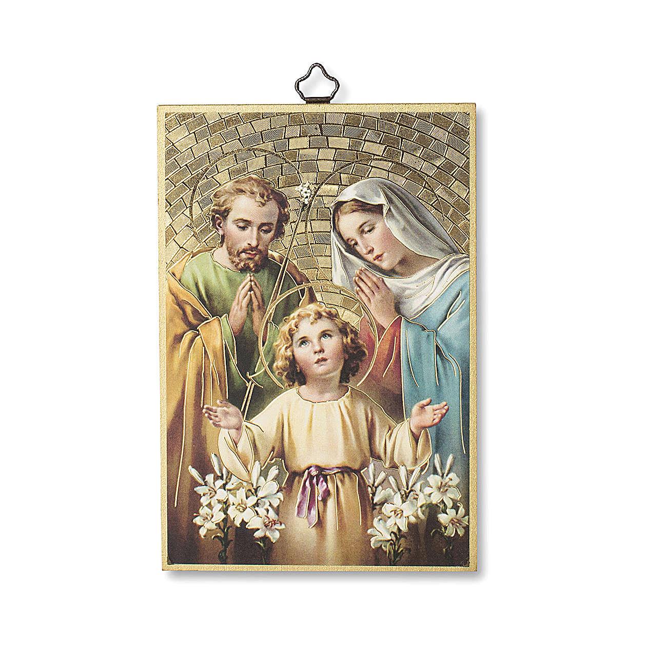 Nadruk na drewnie Święta Rodzina Modlitwa za Rodzinę IT 3