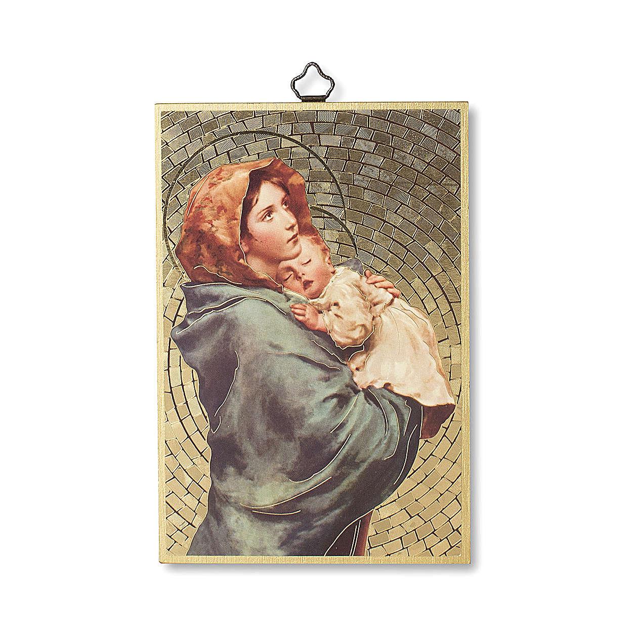 Impreso sobre madera Virgen de Ferruzzi Ave María ITA 3