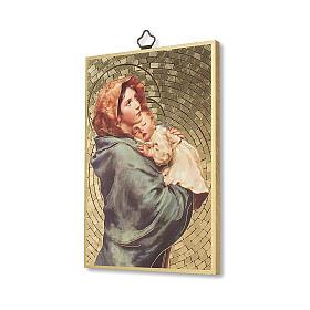 Impreso sobre madera Virgen de Ferruzzi Ave María ITA s2