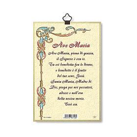 Impreso sobre madera Virgen de Ferruzzi Ave María ITA s3