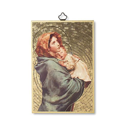 Impreso sobre madera Virgen de Ferruzzi Ave María ITA 1