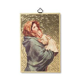 Stampa su legno Madonna del Ferruzzi Ave Maria ITA s1