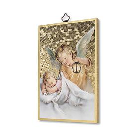 Nadruk na drewnie Anioł Stróż z latarenką Aniele Boży IT s2