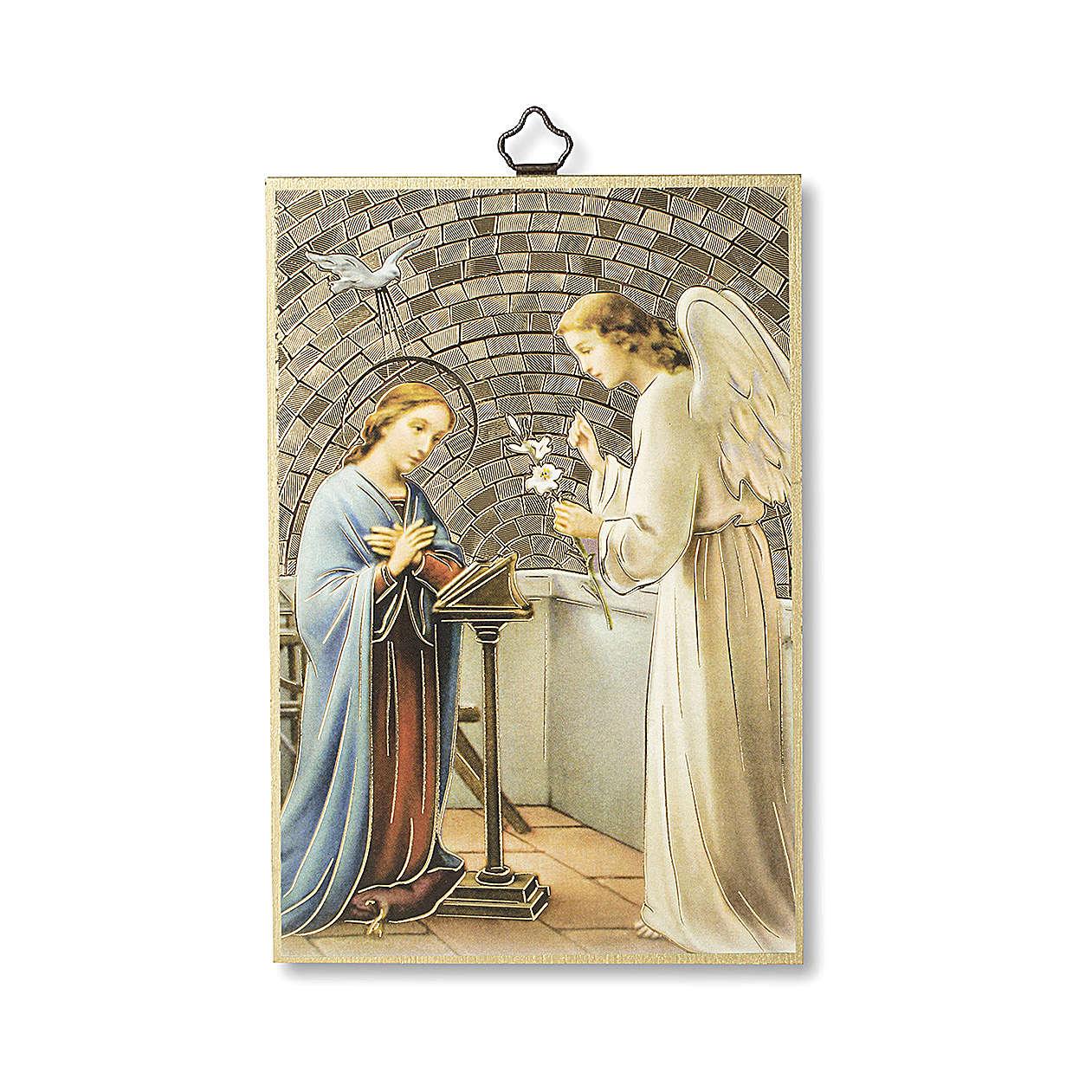 Saint Archangel Gabriel woodcut with prayer in ITALIAN 3