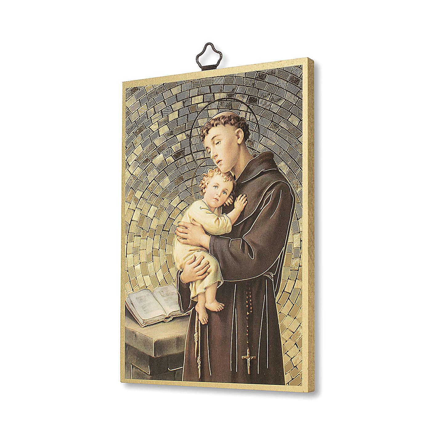Stampa su legno Sant'Antonio da Padova 3