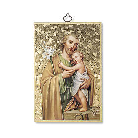 Druck auf Holzgrund Heiliger Josef s1