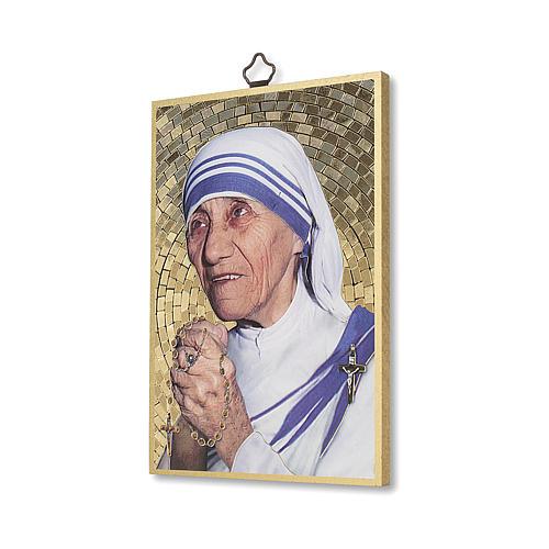 Stampa su legno Santa Madre Teresa di Calcutta 2