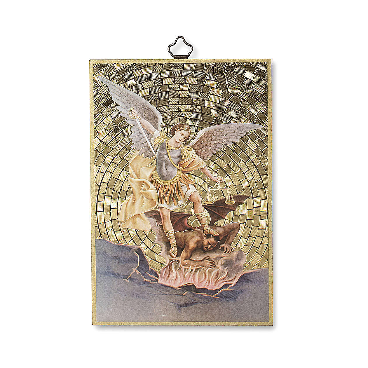 Impreso sobre madera San Miguel Arcángel 3