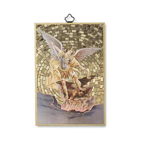 Stampa su legno San Michele Arcangelo 1