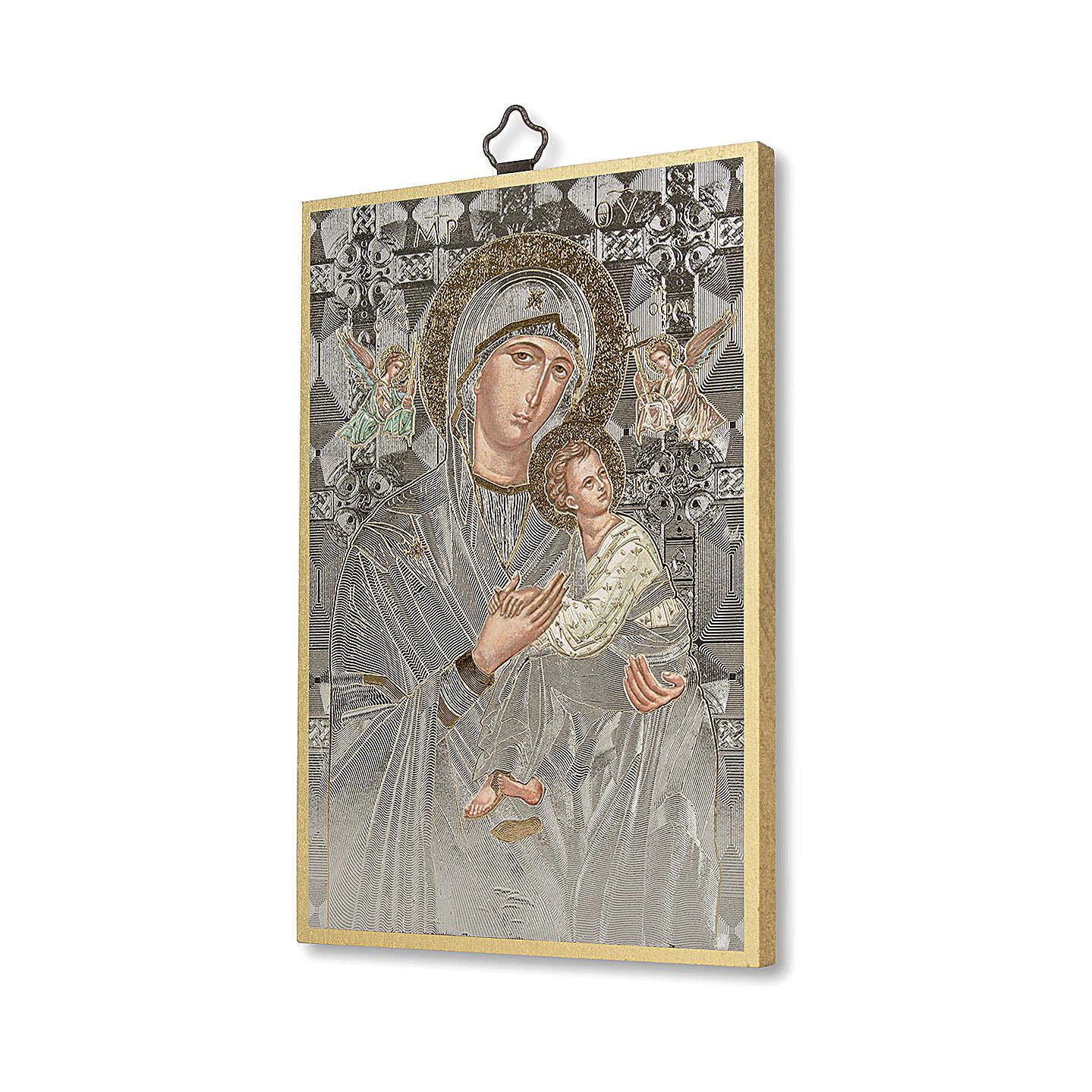 Stampa su legno Icona Madonna del Perpetuo Soccorso 3