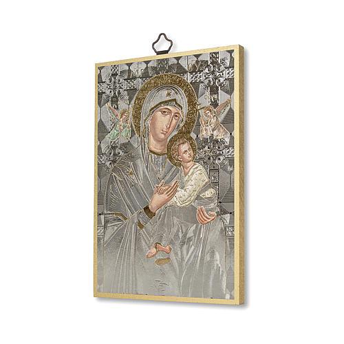 Stampa su legno Icona Madonna del Perpetuo Soccorso 2
