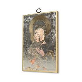 Stampa su legno Icona Madonna della Tenerezza s2