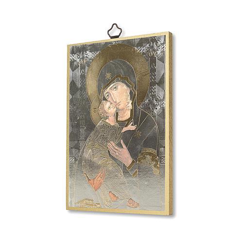 Stampa su legno Icona Madonna della Tenerezza 2