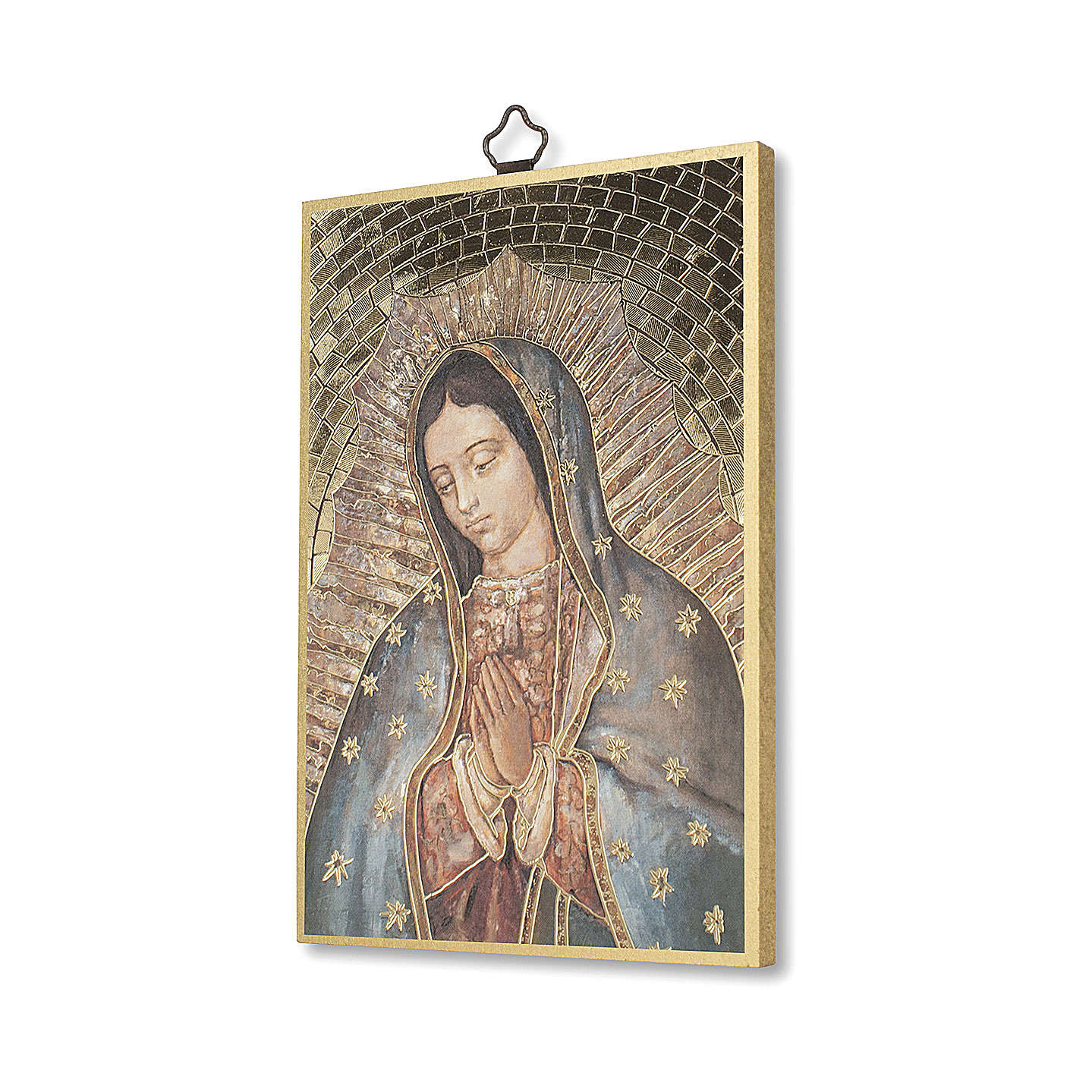 Icono sobre madera Virgen de Guadalupe 3
