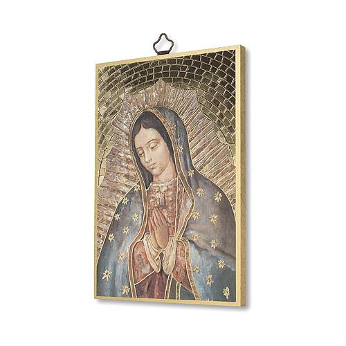 Impressão na madeira Nossa Senhora de Guadalupe 2
