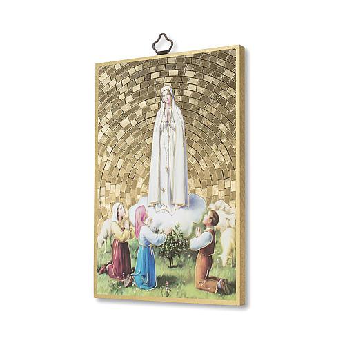 Stampa su legno Apparizione di Fatima con Pastorelli 2