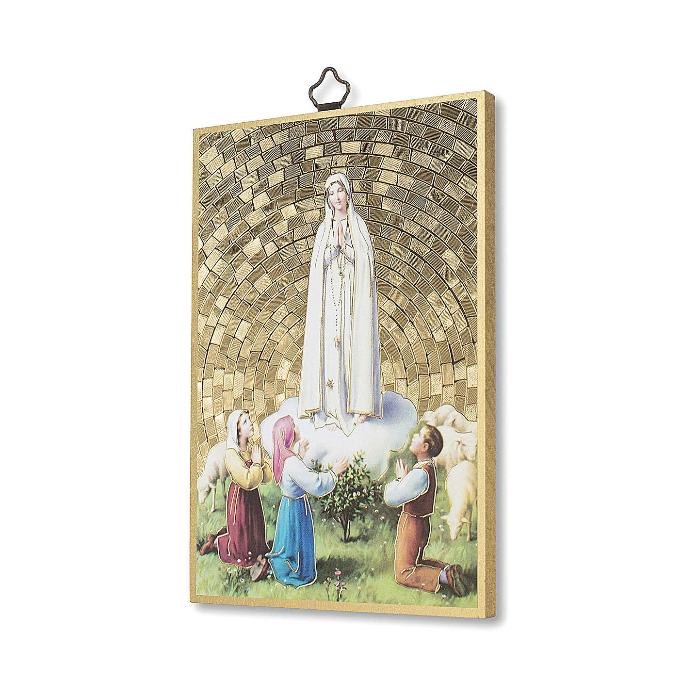 The Apparition of Fatima with the three shepherds 3