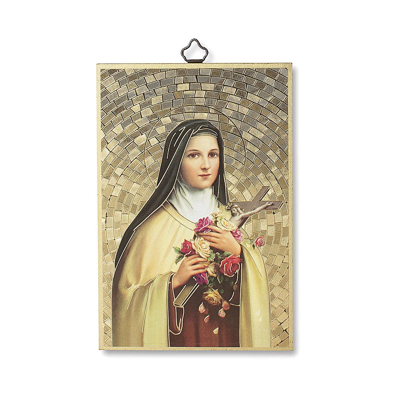 Stampa su legno Santa Teresa di Lisieux 3