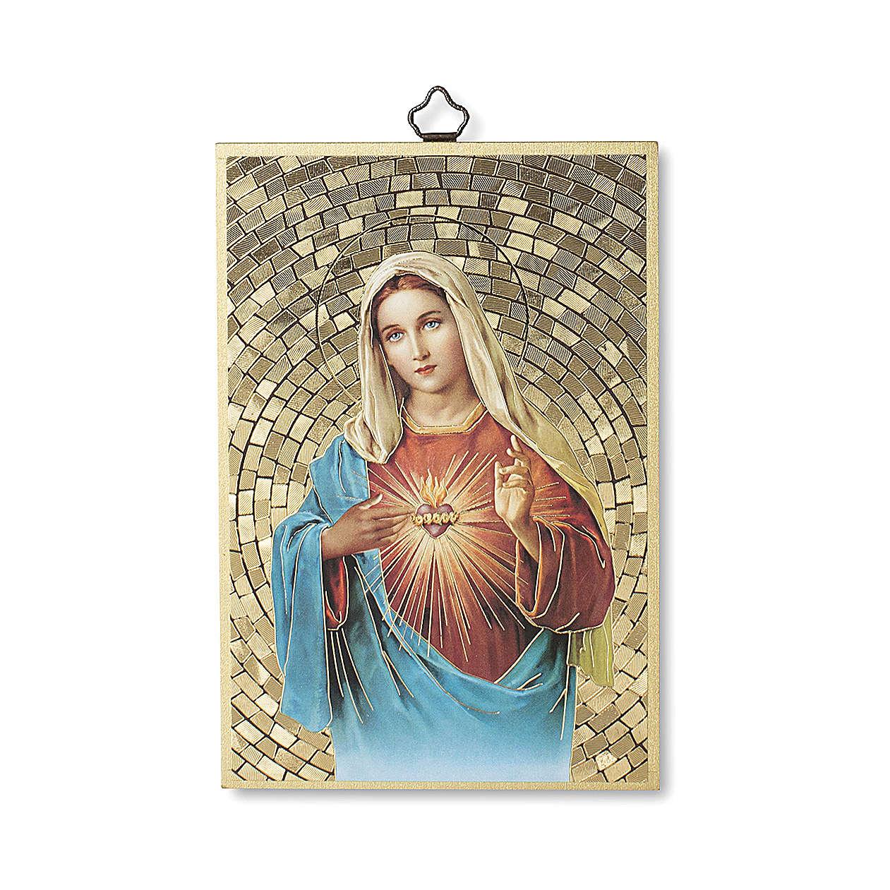 Impression sur bois Coeur Immaculé de Marie 3