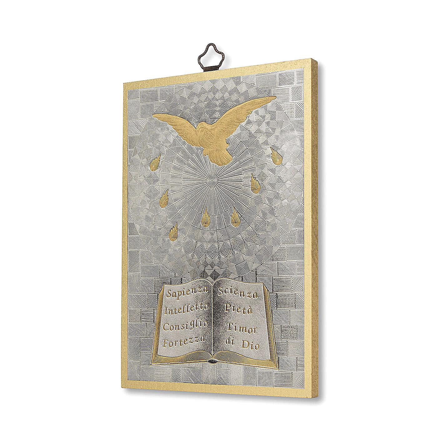 Impreso sobre madera Espíritu Santo 3