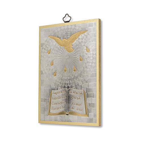 Impreso sobre madera Espíritu Santo 2
