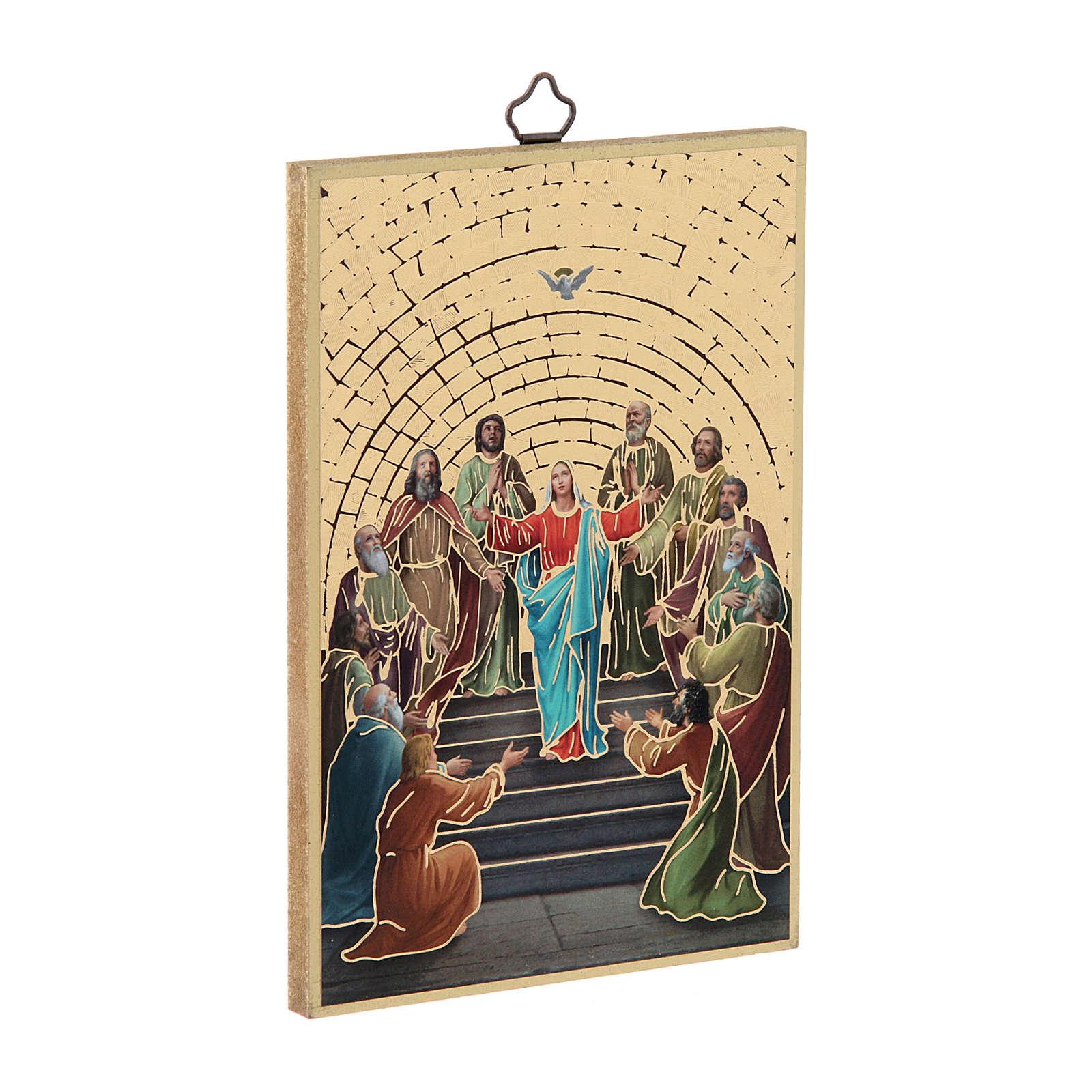 Stampa su legno Pentecoste 3
