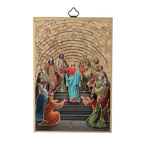 Stampa su legno Pentecoste 1
