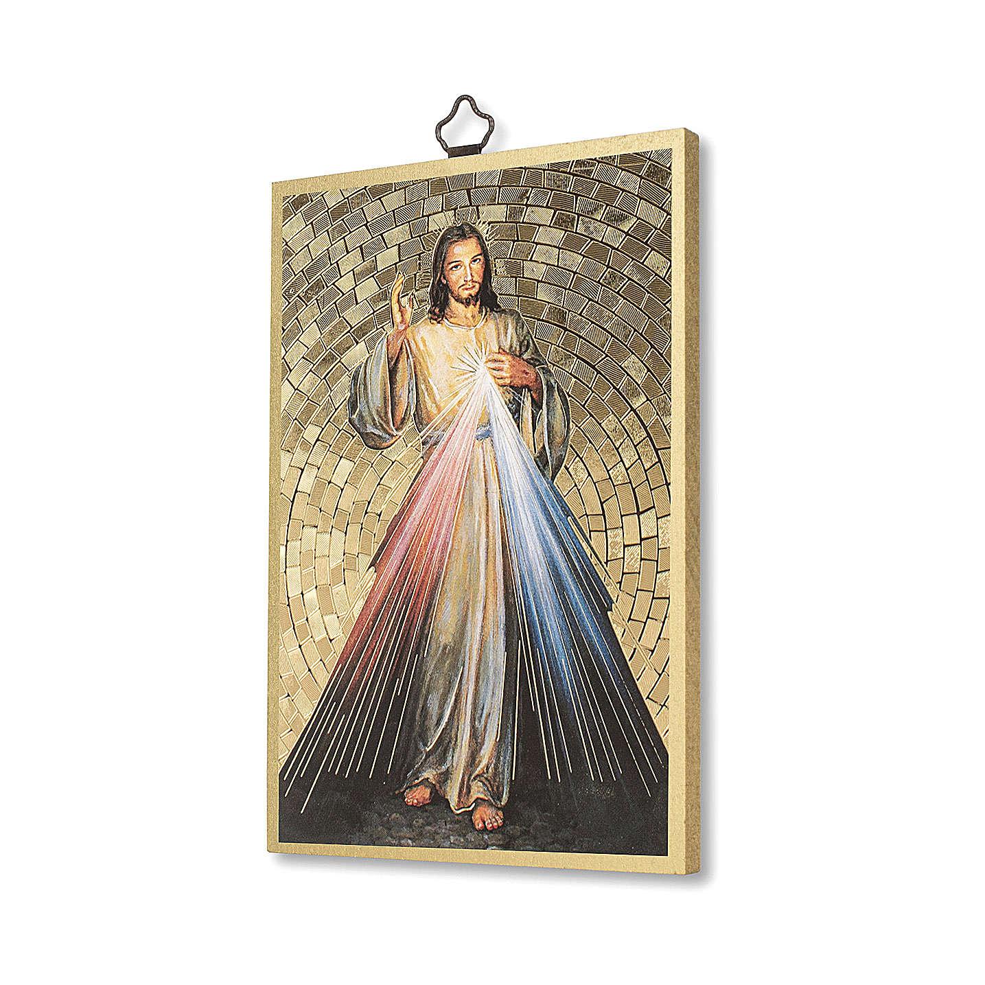 Impression sur bois Christ Miséricordieux 3