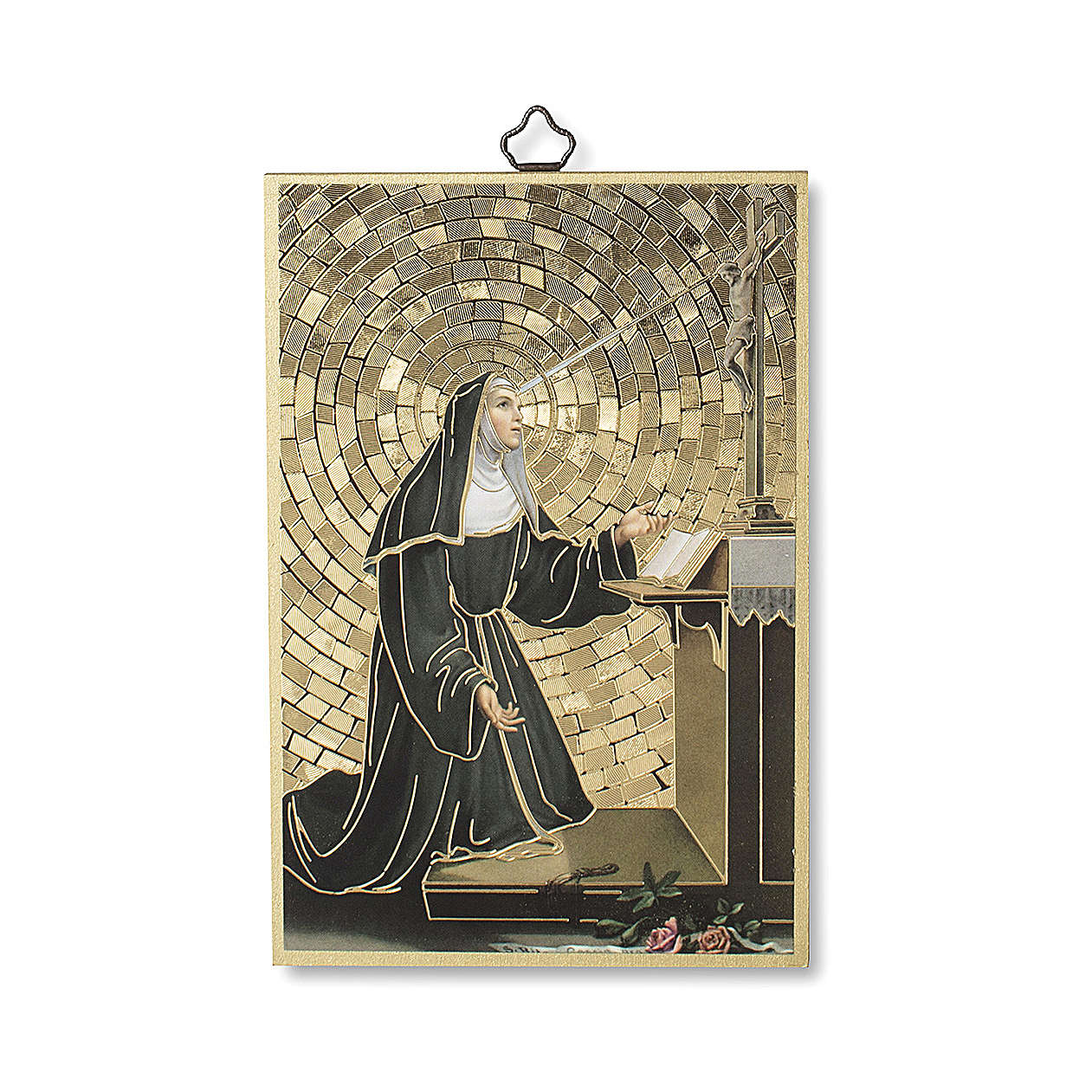 Saint Rita of Cascia woodcut 3