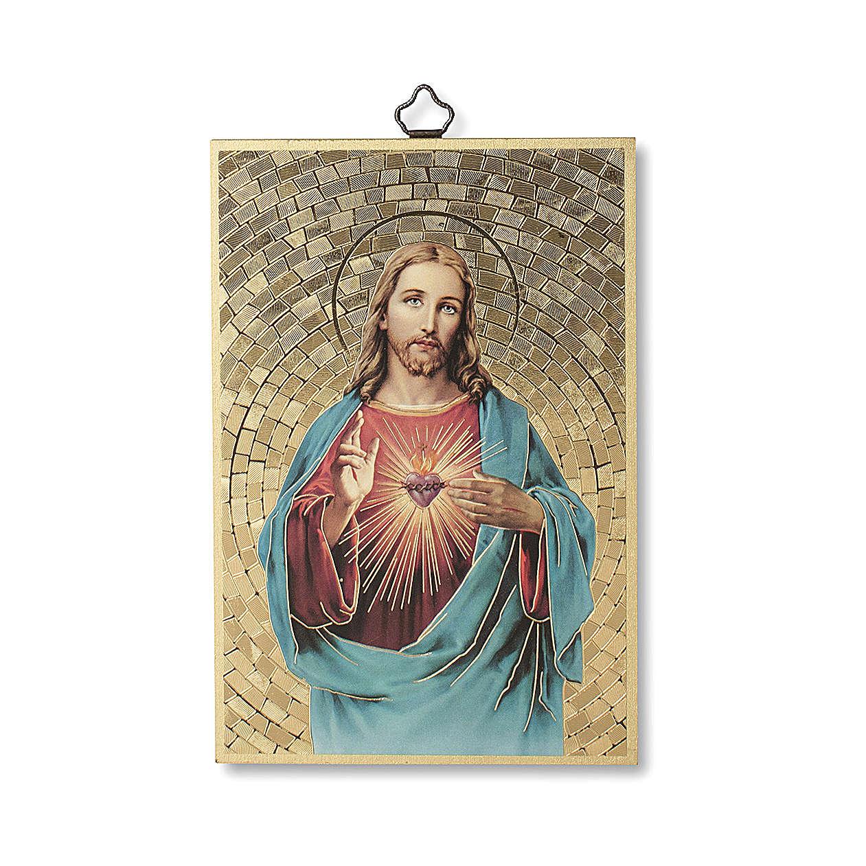 Impression sur bois Sacré Coeur de Jésus 3
