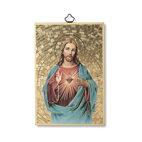 Impression sur bois Sacré Coeur de Jésus 1