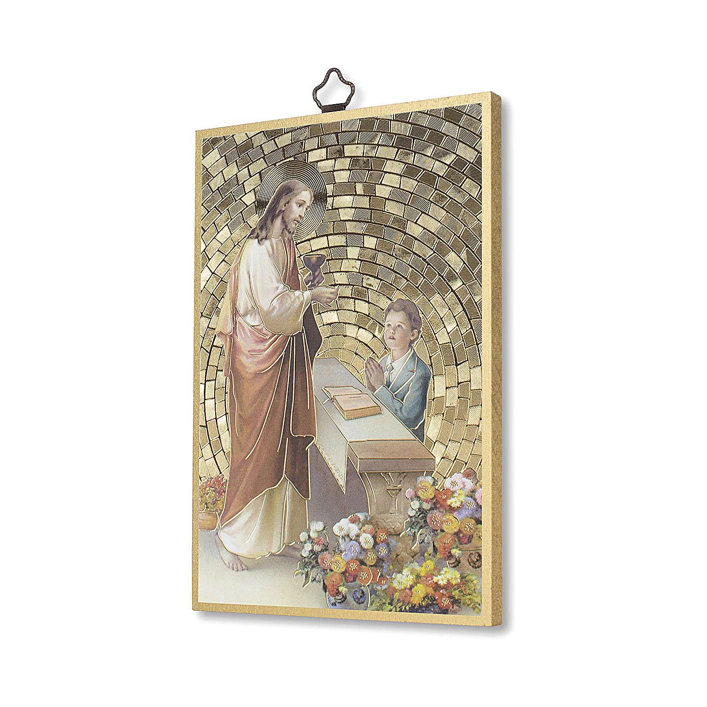 Stampa su legno Gesù offre la Comunione ad un Bimbo 3