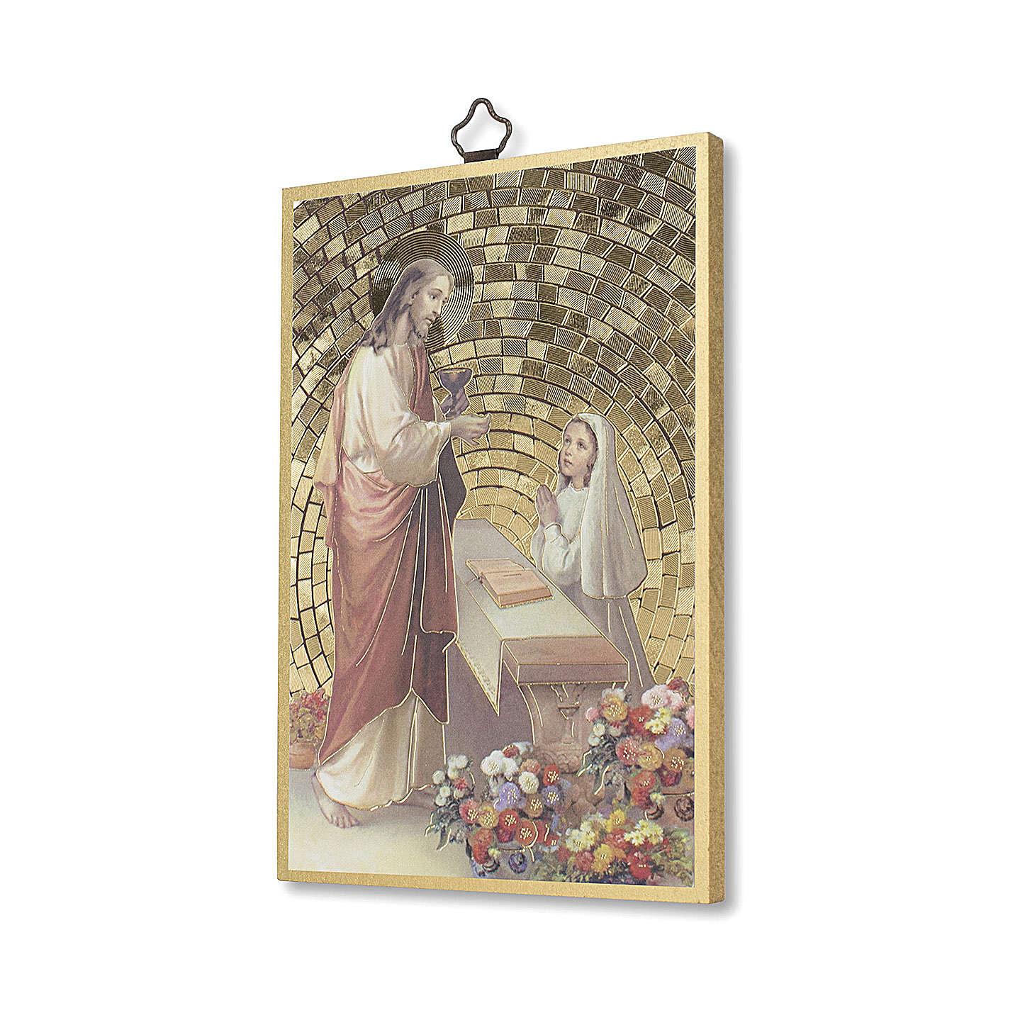 Stampa su legno Gesù offre la Comunione ad una Bimba 3