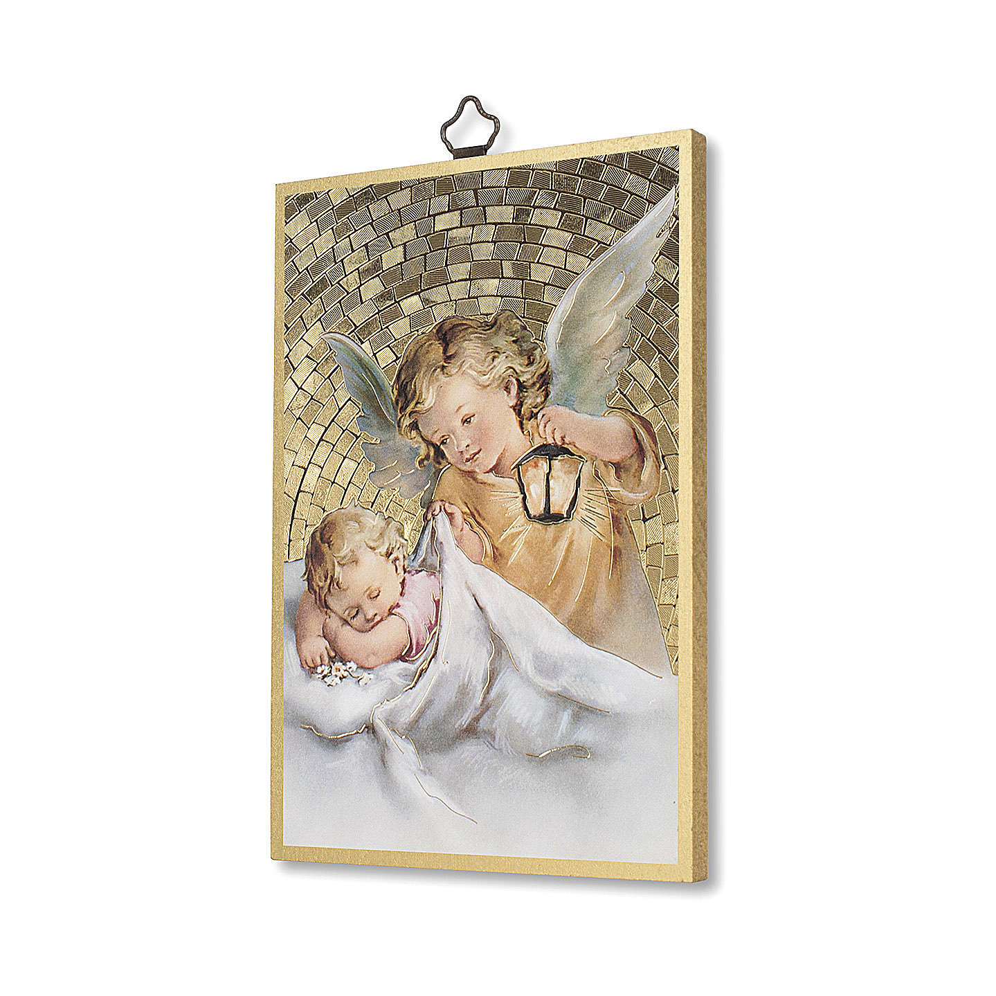 Impreso sobre madera Ángel de la Guarda con Linterna 3