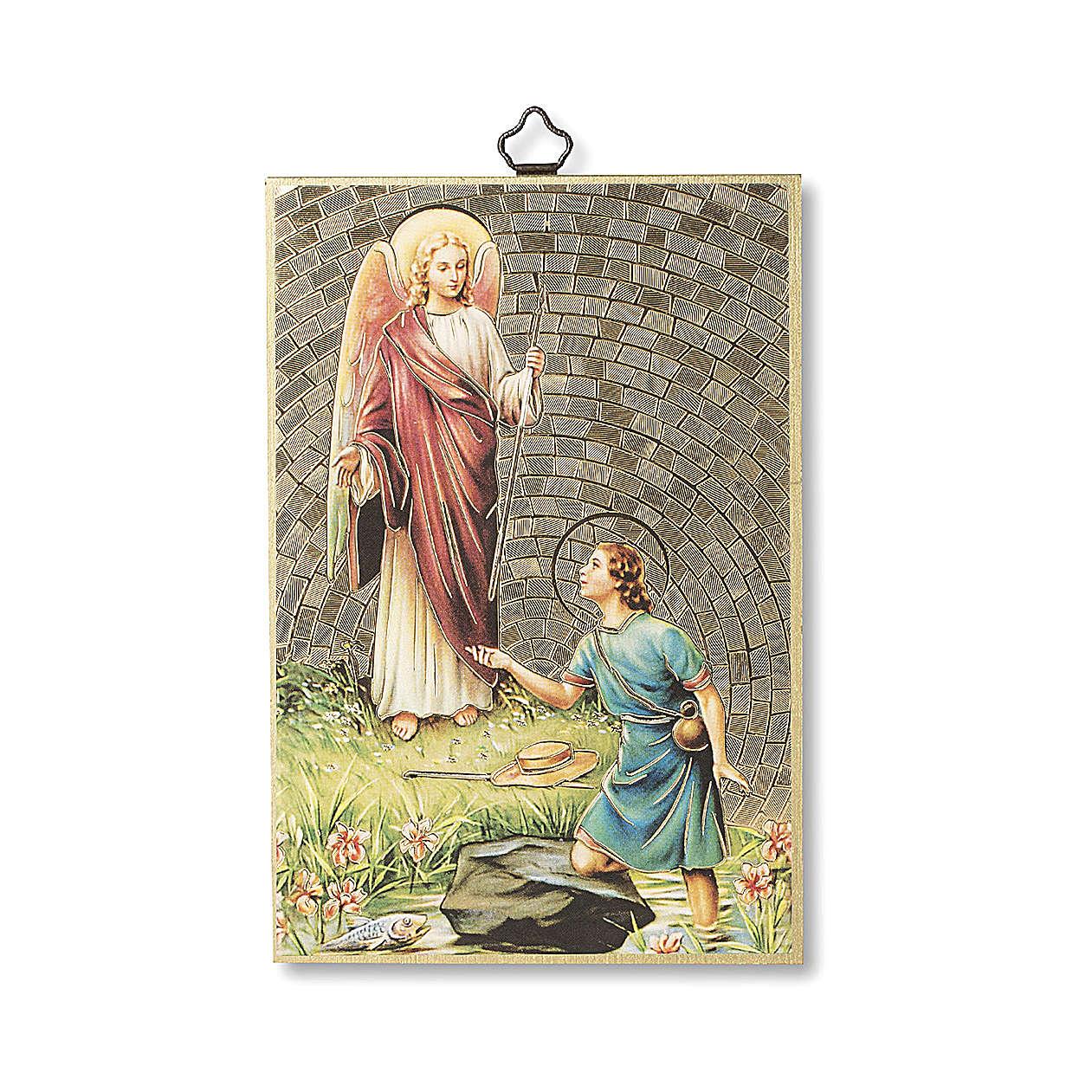Saint Archangel Raphael woodcut 3
