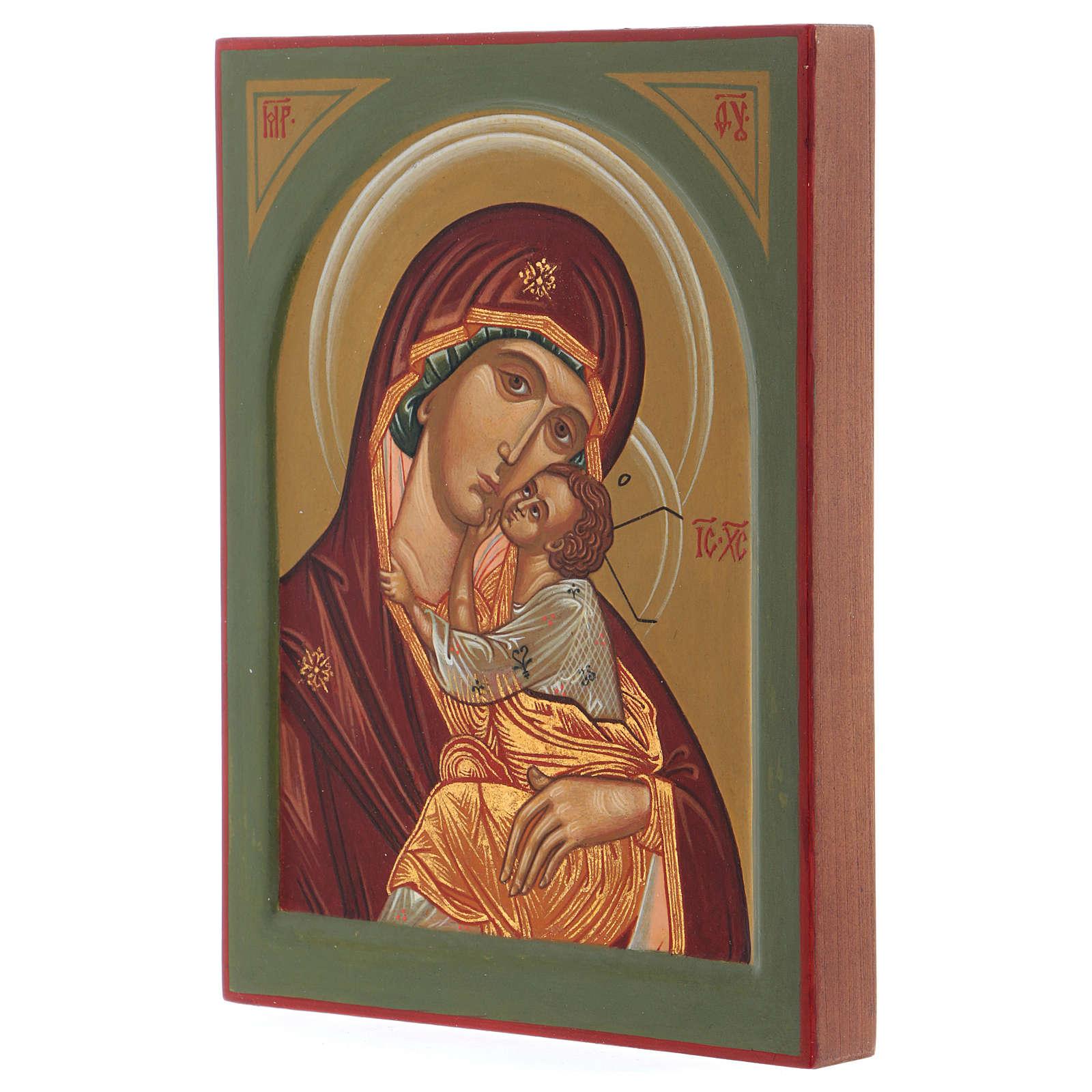Icona dipinta a mano Italia Madre di Dio della Tenerezza Monastero di Montesole 3