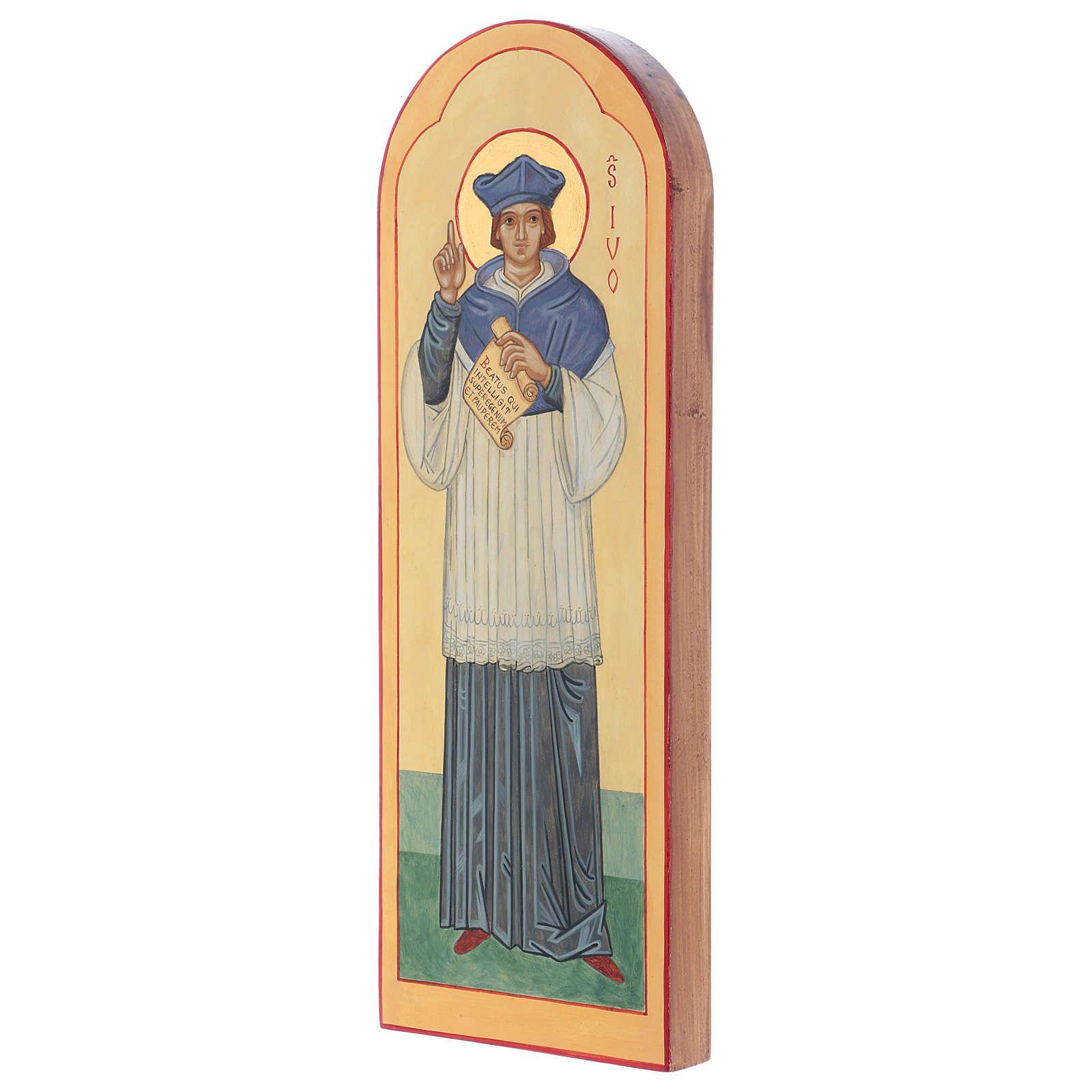 Icona dipinta a mano S. Ivo di Bretagna - Monastero di Montesole  3