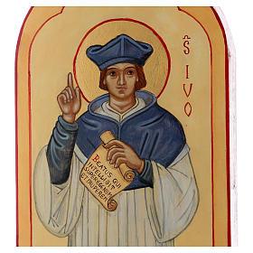 Icona dipinta a mano S. Ivo di Bretagna - Monastero di Montesole  s2