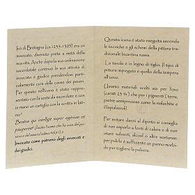 Icona dipinta a mano S. Ivo di Bretagna - Monastero di Montesole  s5